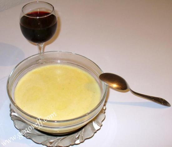 крем супа и червено вино