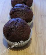 Какаови мъфини с дулсе де лече и шоколадовикалети